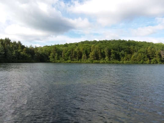 looking across cunningham pond from town beach